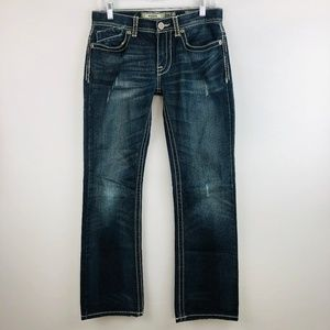 BKE Aiden Bootcut Jeans Dark Wash Faux Flap Pocket